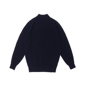 Whole Garment Mockneck_Navy